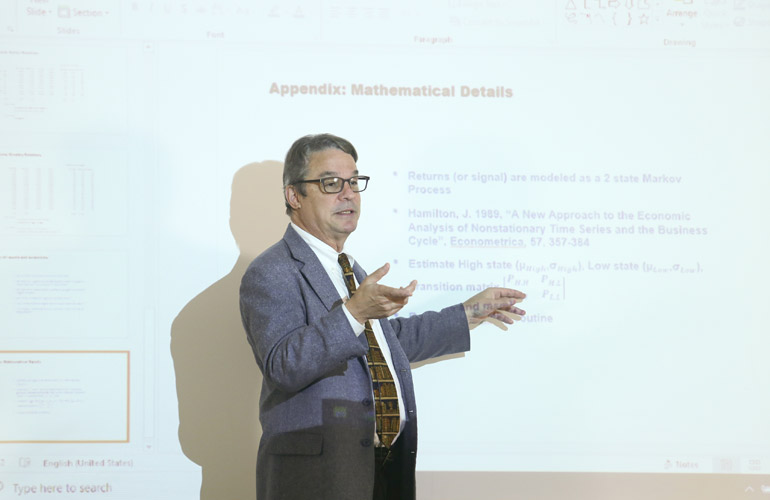 Dr Lawrence Pohlman, Professor of Finance & Engineering, University of Massachusetts Boston