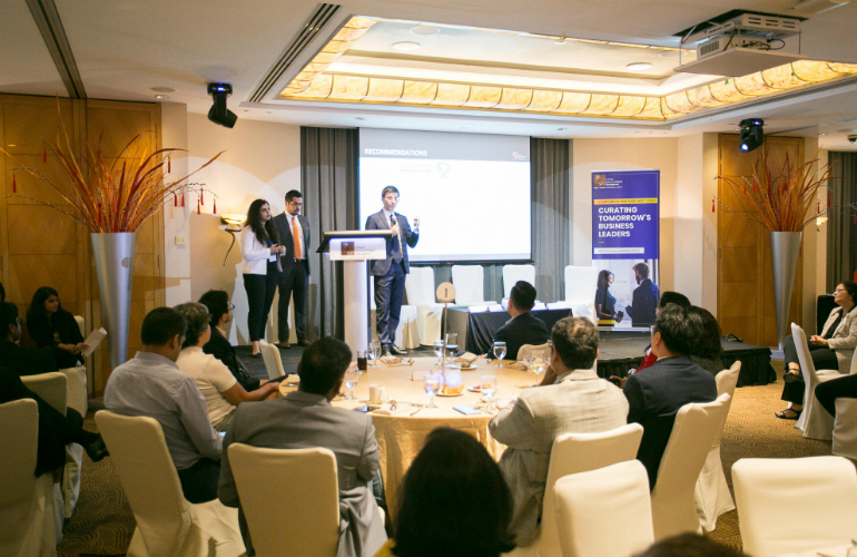 Global MBA students showcase industry projects at Corporate Partner Meet 2020