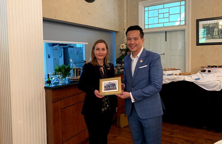 Welcoming Her Excellency, Dorte Bech Vizard, Ambassador of Denmark