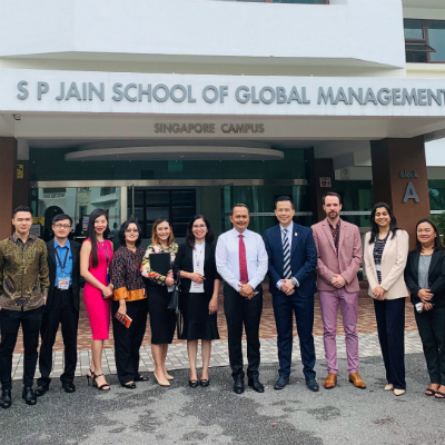 Ngurah Swajaya, Ambassador of Indonesia, visits SP Jain