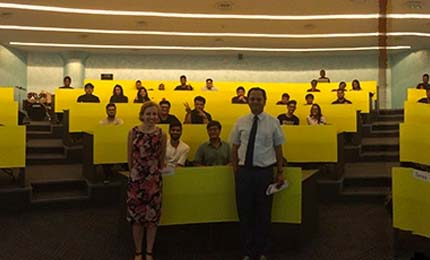 Guest lectures on SCSR galore for BBA Jaguars in Mumbai