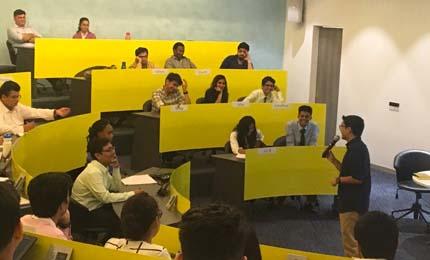 Life Skill Educator Deepak Ramola interacts with BBA students in Mumbai