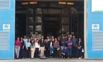 Undergraduate students visit the UNHCR in Dubai