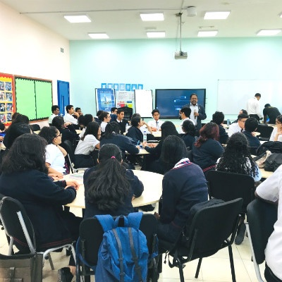 Prof. Christopher Abraham delivers a Design Thinking Workshop for High School Students